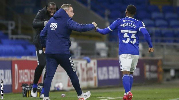Junior Hoilett celebrates his first goal of the season