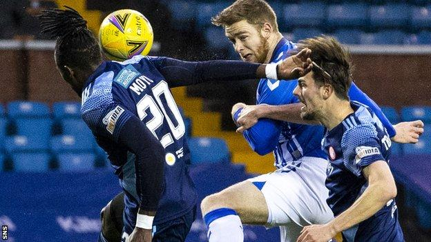 Stuart Findlay leaves Kilmarnock with the club battling for Scottish Premiership survival