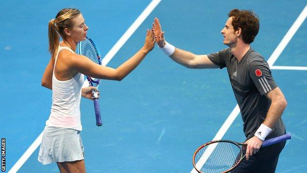 Maria Sharapova and Andy Murray