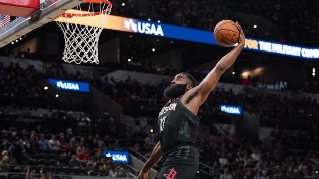 James Harden dunk ruled out as Houston Rockets lose to San Antonio Spurs in Texas thumbnail