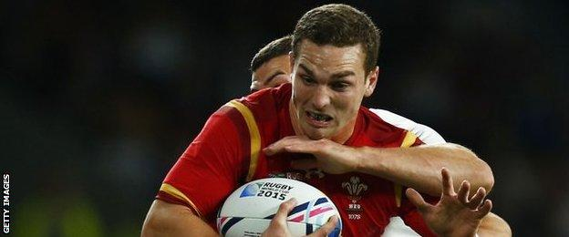 George North takes on England