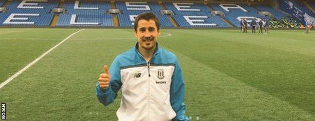 Stoke City striker Bojan