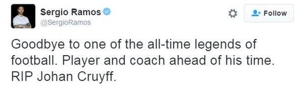 Sergio Ramos tweet