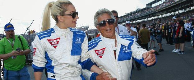 Lady Gaga and Mario Andretti