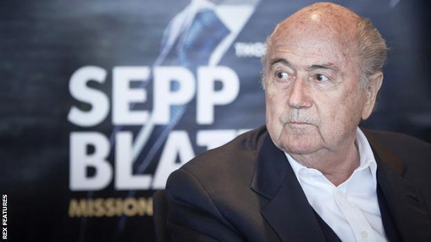 Former Fifa president Sepp Blatter