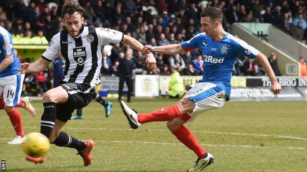 Jason Holt scores for Rangers against St Mirren