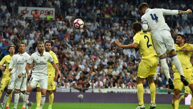 Real Madrid Villarreal BBC Sport