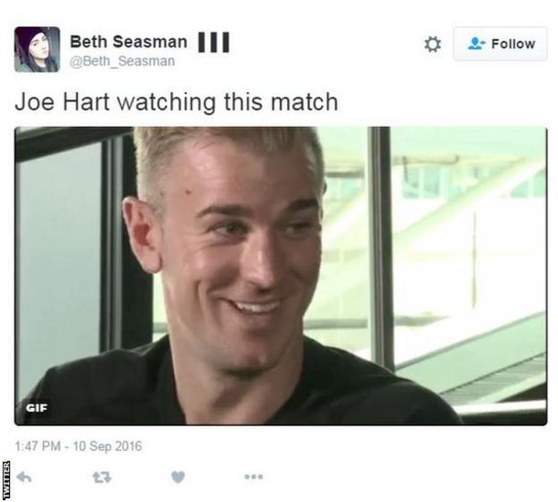 Former Manchester City goalkeeper Joe Hart