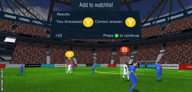 Beyond Sport's VR interface