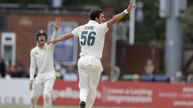 Ashes 2019: Mitchell Starc impresses as Australia beat Derbyshire in tour match thumbnail