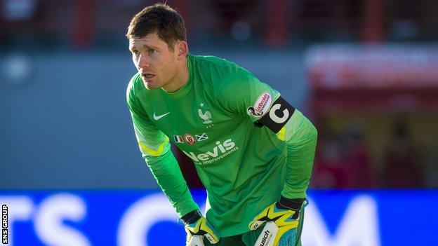 Hamilton goalkeeper Michael McGovern