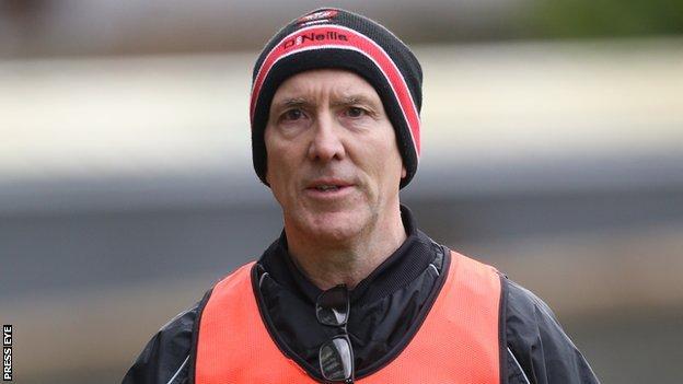 Derry football manager Damian Barton
