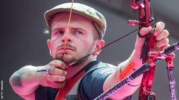 Northern Ireland archer Patrick Huston