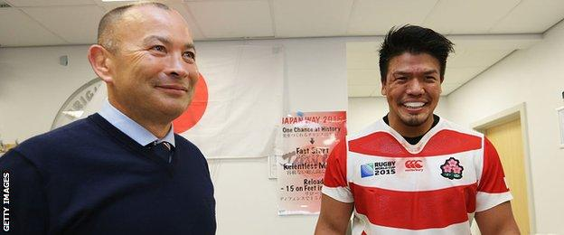 Eddie Jones and Takeshi Kizu