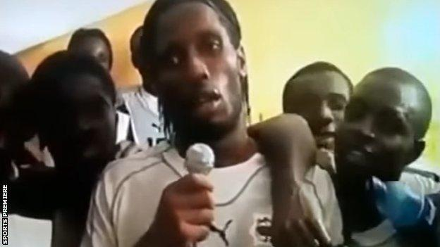 Drogba addresses Ivory Coast's leaders in his post-match speed