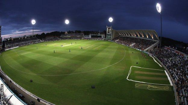 A general view of Trent Bridge