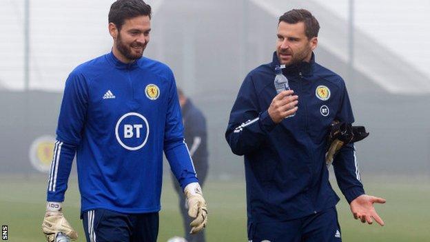Les gardiens de l'Écosse Craig Gordon et David Marshall