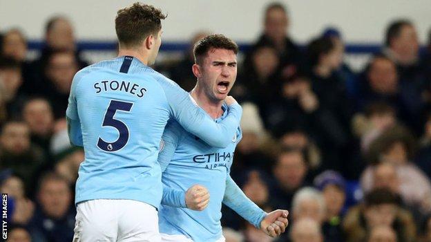 Man City defenders John Stones and Aymeric Laporte