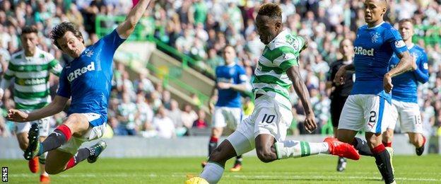 Celtic's Moussa Dembele scores his third goal