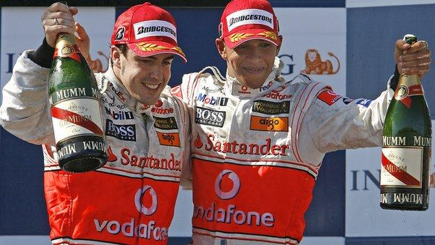 Fernando Alonso and Lewis Hamilton spent a year as teammates at McLaren in 2007