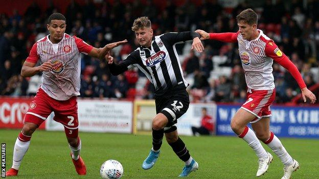 Ethan Robson in action for Grimsby