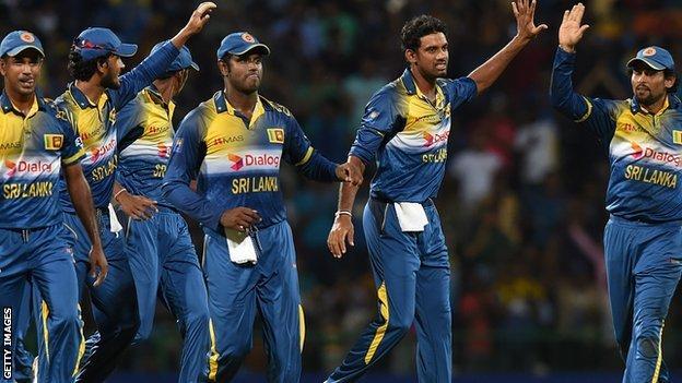 Sri Lanka celebrate