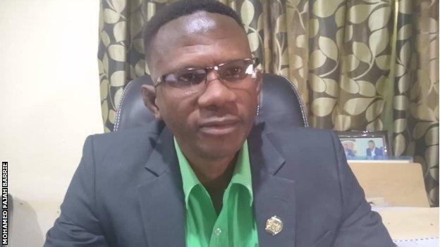 Sierra Leone sports minister Ibrahim Nyelenkeh