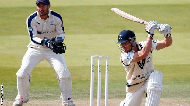 Nick Compton batting against Yorkshire