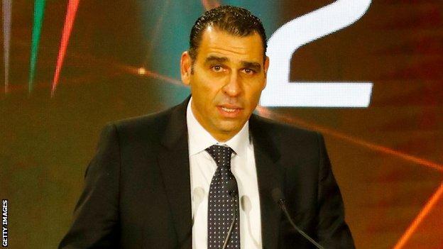 Algeria Football Federation president Khireddine Zetchi