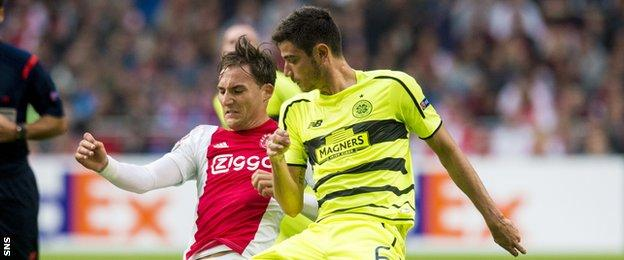 Nir Bitton in action for Celtic against Ajax