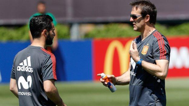 Julen Lopetegui while coach of Spain
