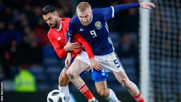 Striker Oli McBurnie made his debut for Scotland against Costa Rica in March 2018