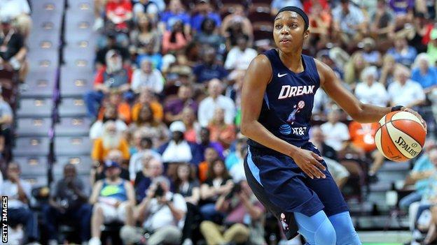 Renee Montgomery in action for Atlanta Dream