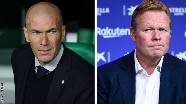 Zinedine Zidane and Ronald Koeman