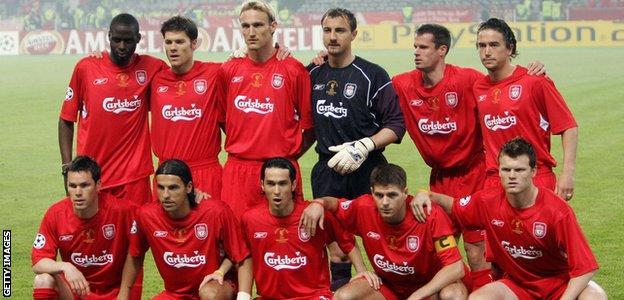 Liverpool's 2005 Champions League winning starting line-up