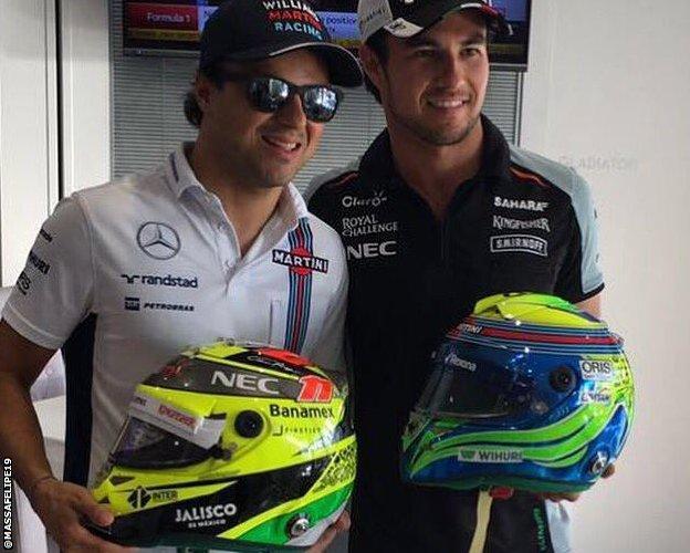 Felipe Massa and Sergio Perez