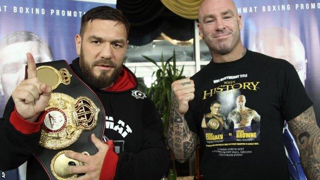 Ruslan Chagaev and Lucas Browne