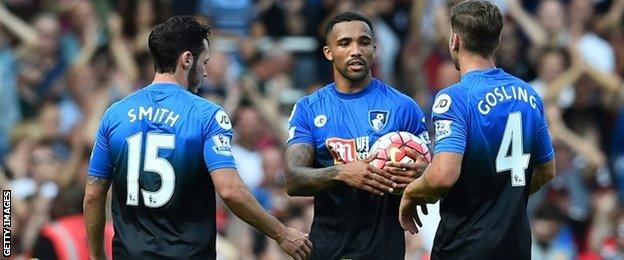 Callum Wilson with the match ball