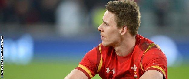 Liam Williams looks dejected after Wales' defeat at Twickenham