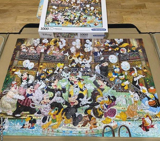 A completed Disney jigsaw