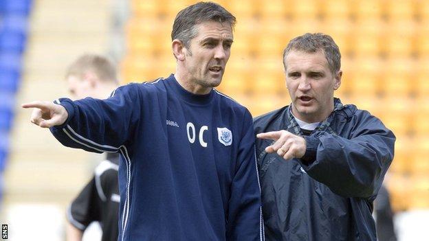 Owen Coyle and Sandy Stewart
