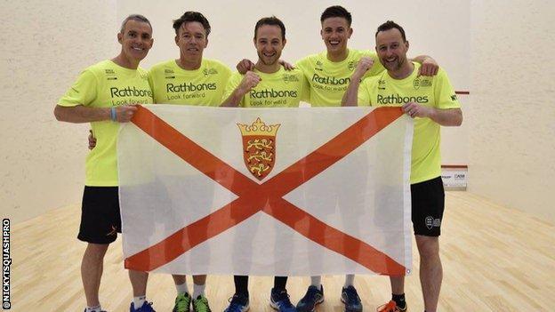 Jersey squash team