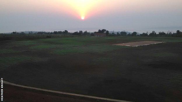 Rwanda's cricket stadium under construction