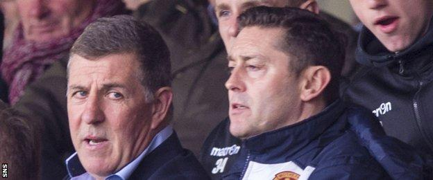 Motherwell manager Mark McGhee and assistant Scott Leitch