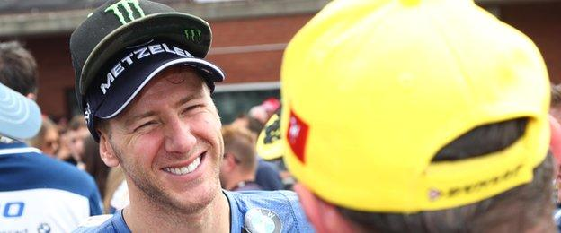 Ian Hutchinson won his only Senior TT so far in 2010 as part of his record five-timer on the island