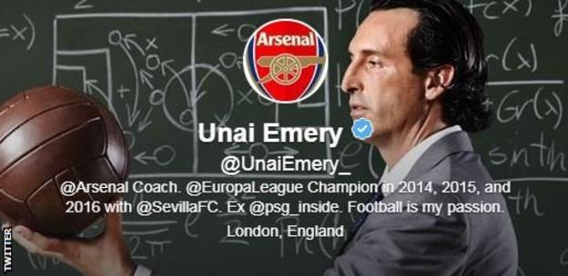Unai Emery Twitter