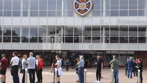 Hearts fans will be subject at vaccine passport spot checks at Saturday's game with Motherwell