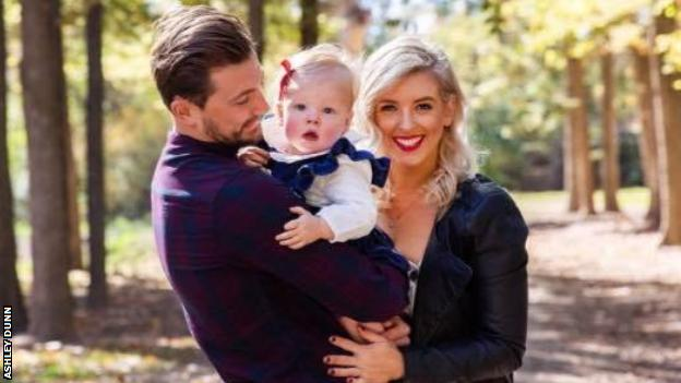 Ashley Dunn with Daughter Milla Rose and partner Tegan