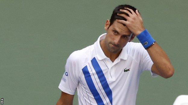 Novak Djokovic S Us Open Disqualification Another Example Of His Poor Judgement Bbc Sport