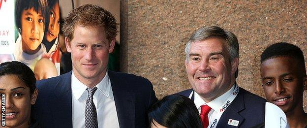 Prince Harry and Jason Leonard
